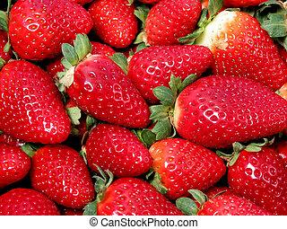 Strawberries texture