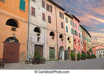 old town of Brisighella, Ravenna, Italy