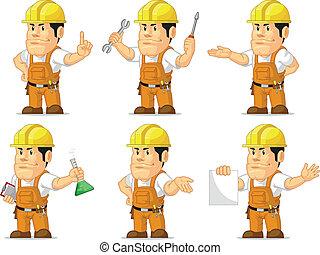 Strong Construction Worker Mascot 2