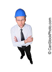 Studio shot of a man in a hardhat