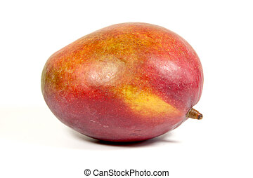 Studio Shot Of Ripe Colorful Tropical Mango
