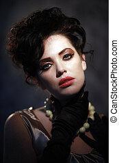 High Fashion Woman With Piercing Eyes