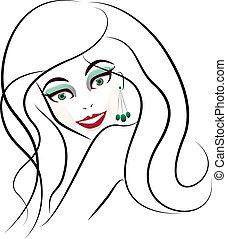 Stylized woman face