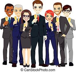 Successful Business Team Toasting