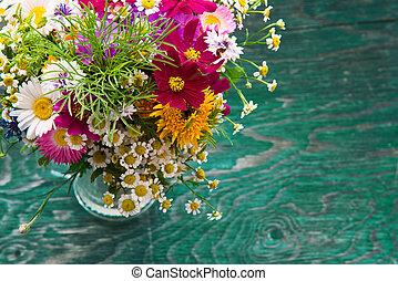 Summer flowers mock up