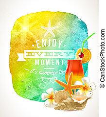 Summer holidays illustration