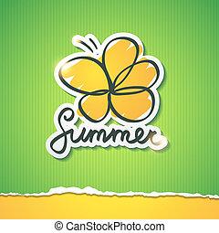 summer illustration, vector eps 10