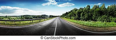 Summer road panorama