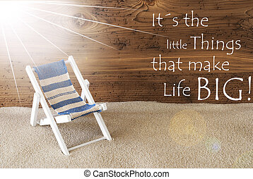 Summer Sunny Greeting Card And Quote Little Things Big Life