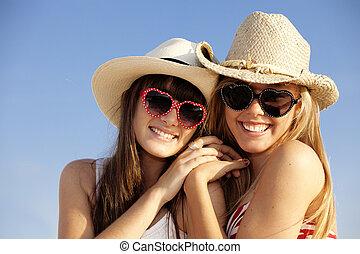 summer teens on vacation