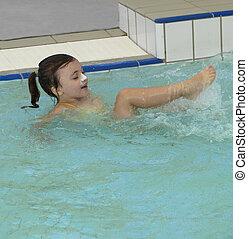 Summer time fun in the swimming pool