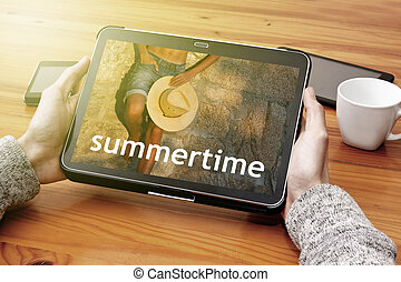 summer time in the tablet