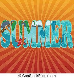 Summer title on orange