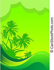Summer vacation banner