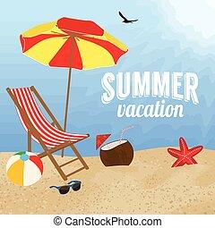 Summer vacation poster design