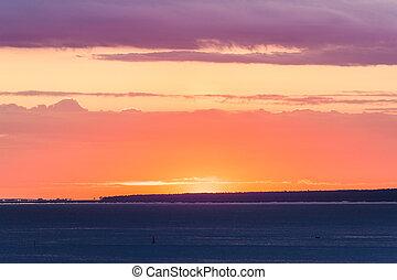 sun behind the horizon