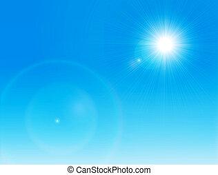 sun on a clear sky