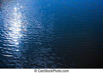 Sunlight reflection in rippled water surface . natural image