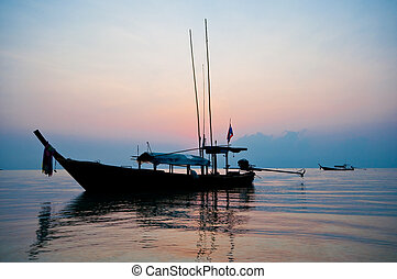 sunrise at Surin island, southern of Thailand