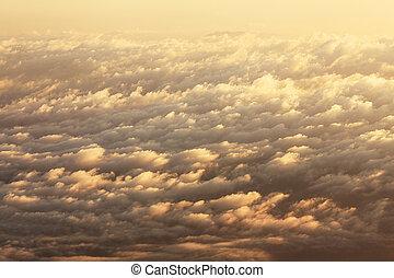 Sunrise clouds background.