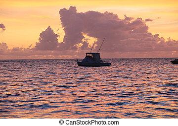 Sunrise sunset beach clouds sky, sea, ocean
