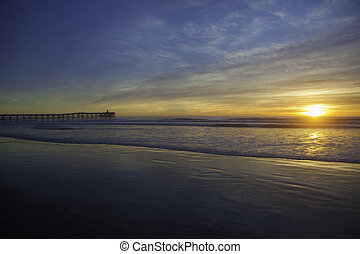 sunset at pacific beach