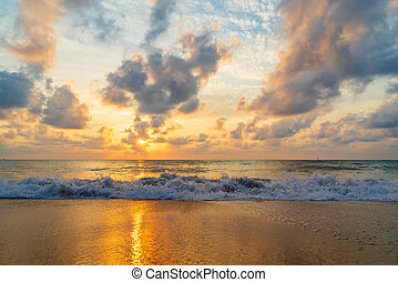 Sunset at the  beach in Samui