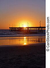Sunset at Venice Beach California