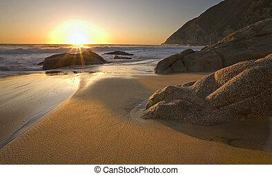 Sunset near Pacifica, California