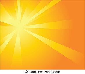 Illustration of a burst of orange light on an orange background
