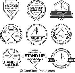 SUP logos set