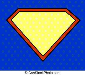 Super hero shield in pop art style