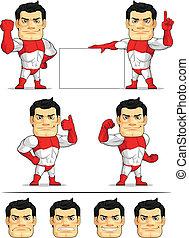 Superhero Customizable Mascot 2