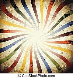 Swirly Grunge Sunburst