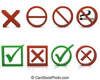 A 3d composition of symbols