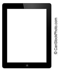 Tablet pc with whit screen