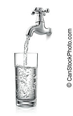 tap and water
