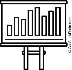 Tax chart bars icon, outline style