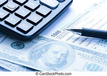 Tax financial concept