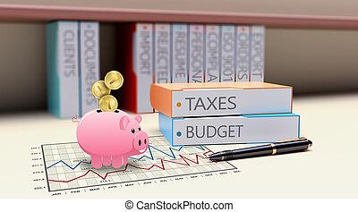 Tax money concept