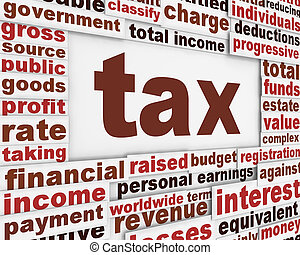 Tax poster conceptual background