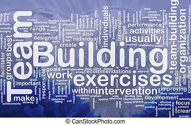 Team building background concept