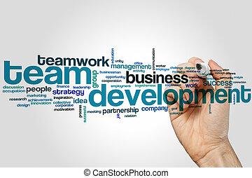 Team development word cloud