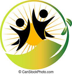 Team nature logo vector