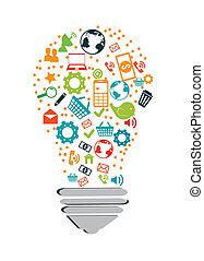 technology design over white background vector illustration