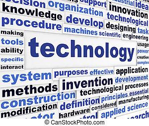 Technology scientific words design