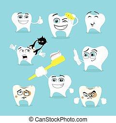 Teeth Dental Health Care Set Collection