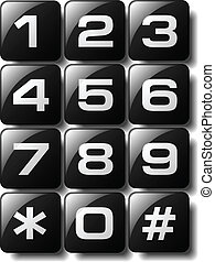 Telephone keypad design available in both jpeg and eps8 format.
