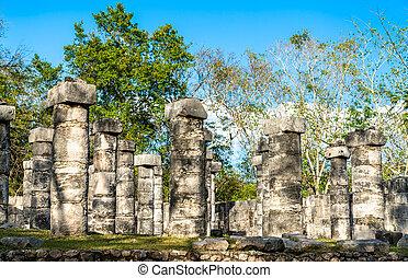 Temple of the Warriors in Chichen Itza, Mexico