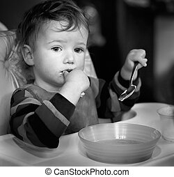 The child who has reflected during meal